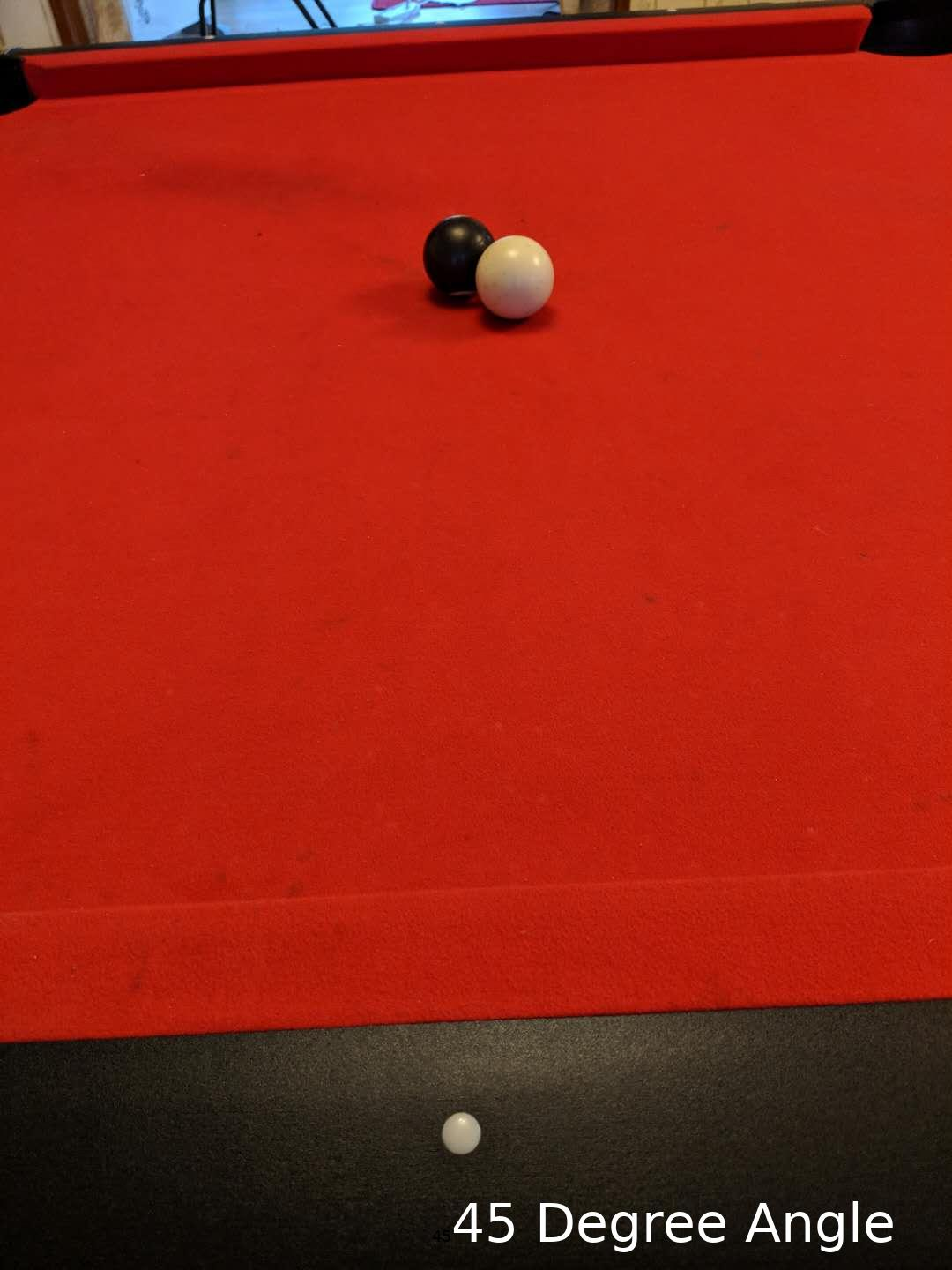 How To Set Up Pool Balls Quora >> Show How To Calculate What Angle To Hit A Pool Ball With Real Photos